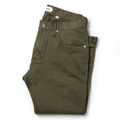 The Slim All Day Pant in Olive Bedford Cord