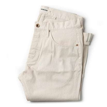 The Slim Jean in Natural Organic Selvage