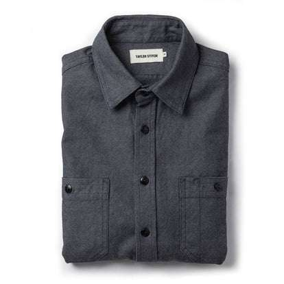 The Utility Shirt in Indigo Crosshatch