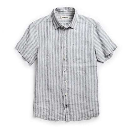 The Short Sleeve California in Grey Stripe
