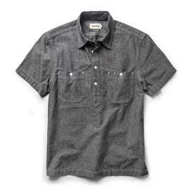 The Short Sleeve Popover in Charcoal Chambray: Featured Image