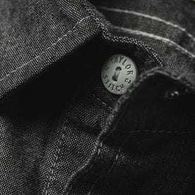 material shot of collar button
