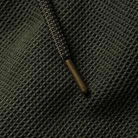 material shot of drawstring detail