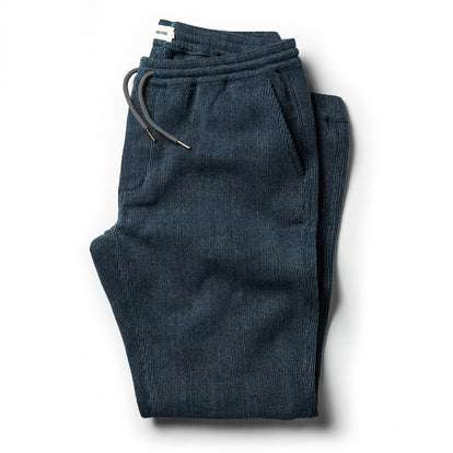 The Après Pant in Indigo Waffle