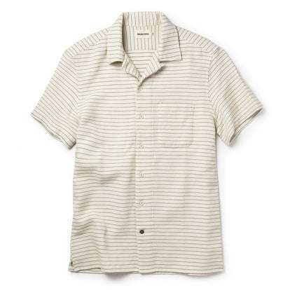 The Short Sleeve Hawthorne in Natural Pickstitch Waffle