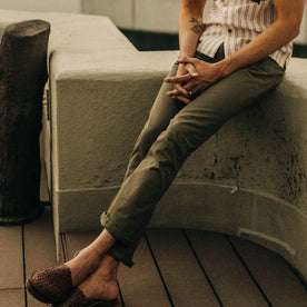 The Slim All Day Pant in Olive Bedford Cord: Alternate Image 11