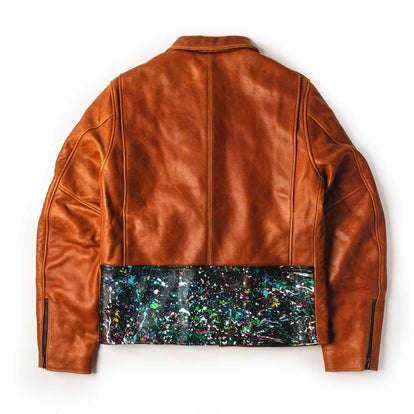 The Moto Jacket in Whiskey & Cosmos