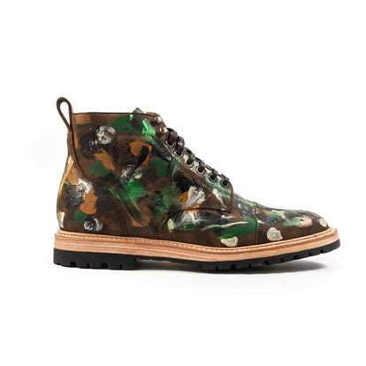 The Moto Boot in Jungle Camo