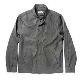 The Bomber Jacket in Washed Slate Herringbone: Featured Image