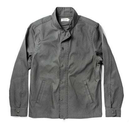The Bomber Jacket in Washed Slate Herringbone