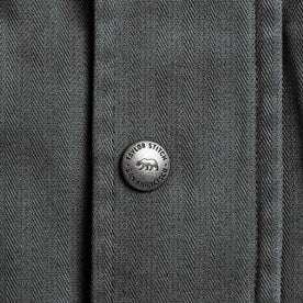 The Bomber Jacket in Washed Slate Herringbone: Alternate Image 8