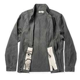 The Bomber Jacket in Washed Slate Herringbone: Alternate Image 10