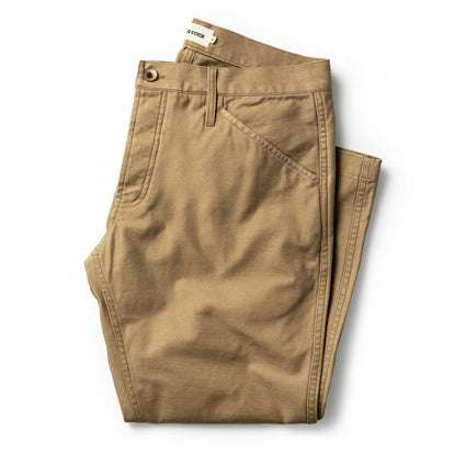 The Camp Pant in Khaki Reverse Sateen