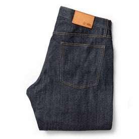 folded flatlay of jean back