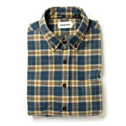 The Jack in Brushed Navy Plaid