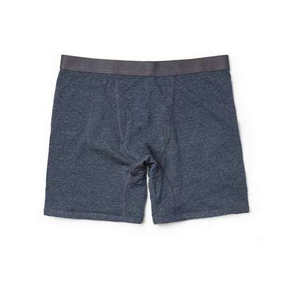 The Merino Boxer in Heather Navy