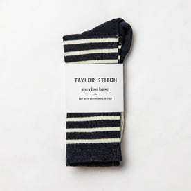 flatlay of socks with packaging