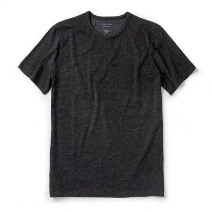 The Merino Tee in Heather Black
