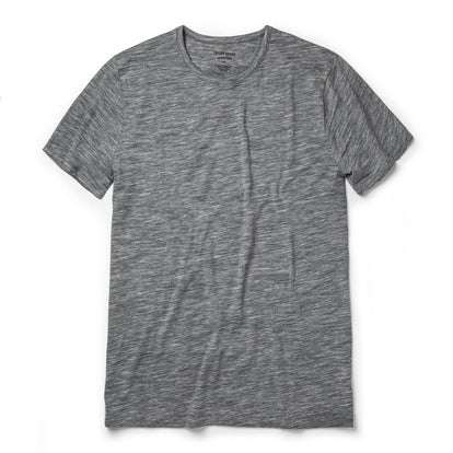 The Merino Tee in Heather Grey