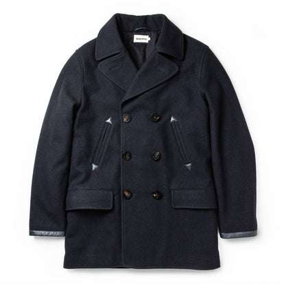 The Mendocino Peacoat in Navy Wool
