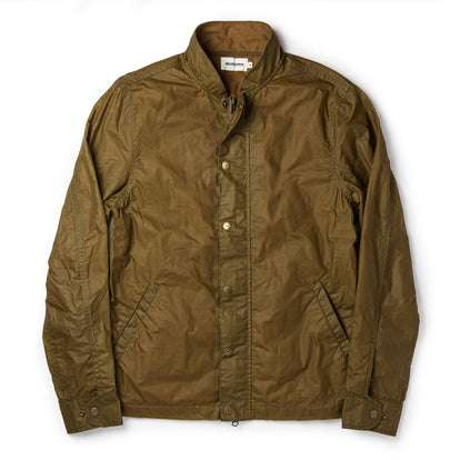 The Bomber Jacket in Field Tan Wax Canvas