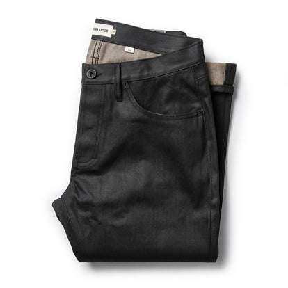 The Slim Jean in Black Over-dye Selvage
