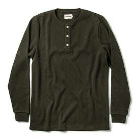 The Heavy Bag Waffle Henley in Olive: Featured Image