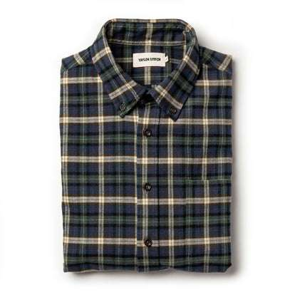 The Jack in Brushed Green Plaid