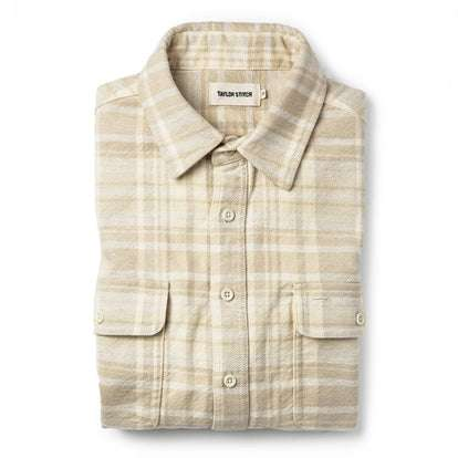 The Ledge Shirt in Sand Plaid