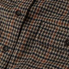 material shot of The Leeward Shirt in Houndstooth closeup of fabric