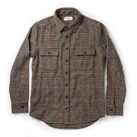 flatlay of The Leeward Shirt in Houndstooth with sleeves folded out