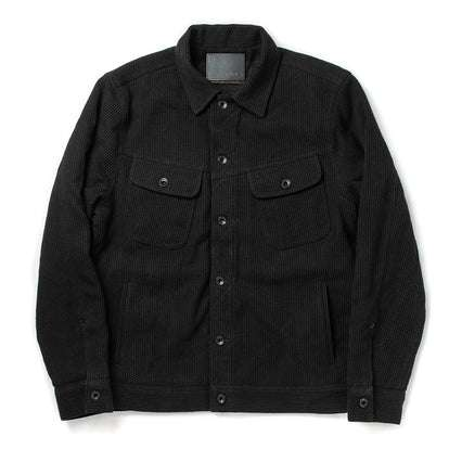 The Long Haul Jacket in Black Indigo Sashiko