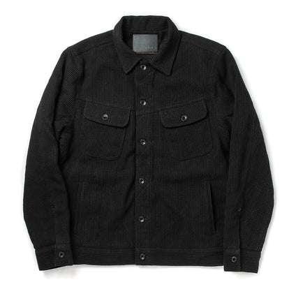 The Long Haul Jacket in Black Indigo Sashiko