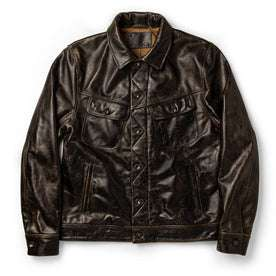 The Long Haul Jacket in Cola Leather: Featured Image