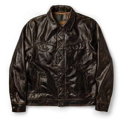 The Long Haul Jacket in Cola Leather