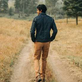 The Long Haul Jacket in Cone Mills Reserve Selvage, back