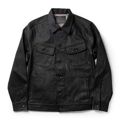 The Long Haul Jacket in Black Over-dye Selvage