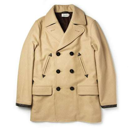 The Mendocino Peacoat in Camel Wool