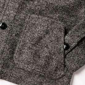 material shot of exterior pocket