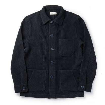 The Ojai Jacket in Navy Waffle Wool