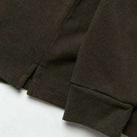 material shot of shirt bottom and sleeve