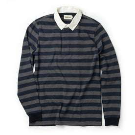 The Rugby Shirt in Navy Stripe: Featured Image