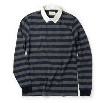 The Rugby Shirt in Navy Stripe