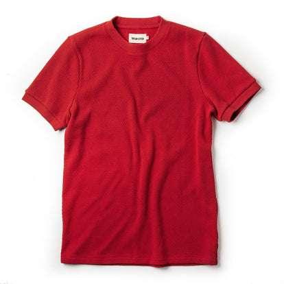 The Heavy Bag Waffle Short Sleeve in Cardinal