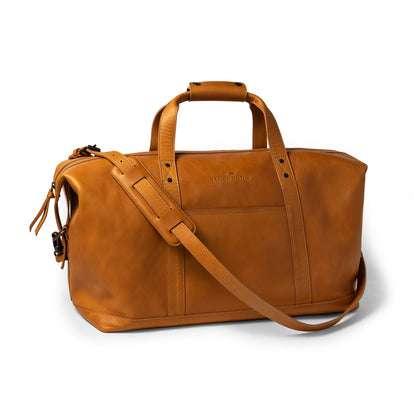 The Weekender Duffle Bag in Saddle Tan