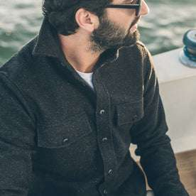The Maritime Shirt Jacket in Charcoal Donegal Wool: Alternate Image 6