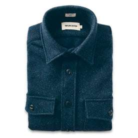 The Maritime Shirt Jacket in Navy Donegal Lambswool: Featured Image