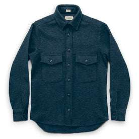 The Maritime Shirt Jacket in Navy Donegal Lambswool: Alternate Image 3