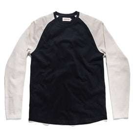 The Heavy Bag Baseball Tee in Navy: Featured Image