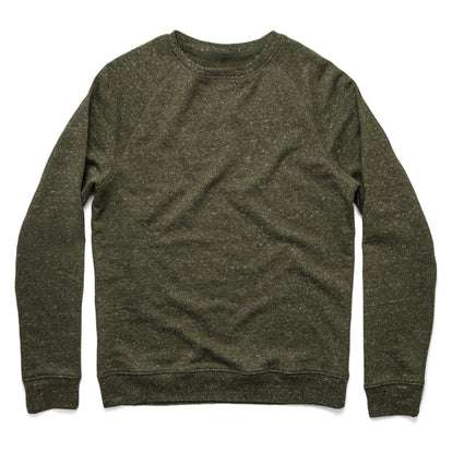 The Crewneck in French Terry Heather Olive